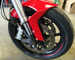 2011 Ducati Monster 796 front wheel