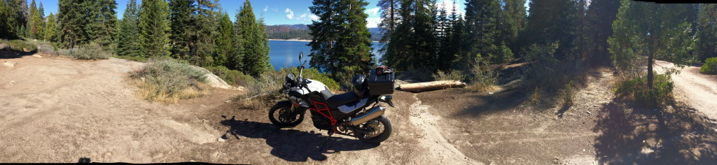 BMW F800GS in the woods