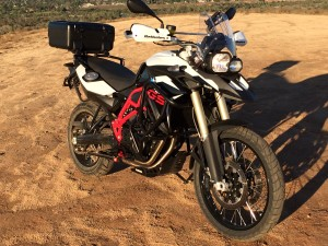 BMW F800GS top case