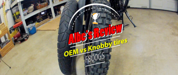 BMW F800GS OEM vs Knobby tires
