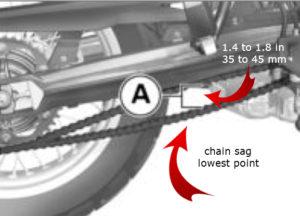 albe's adv, chain adjustment, bmw f800gs