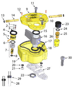 Scotts steering damper diagram, albe's adv, bmw f800gs