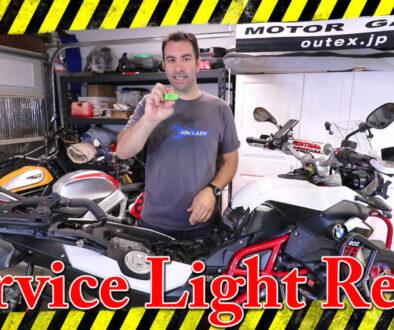 BMW F800GS Service light reset2