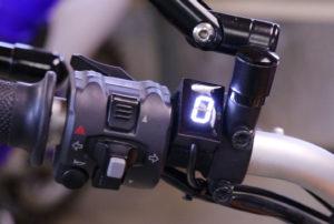 albe's adv, ducati scrambler, gear indicator